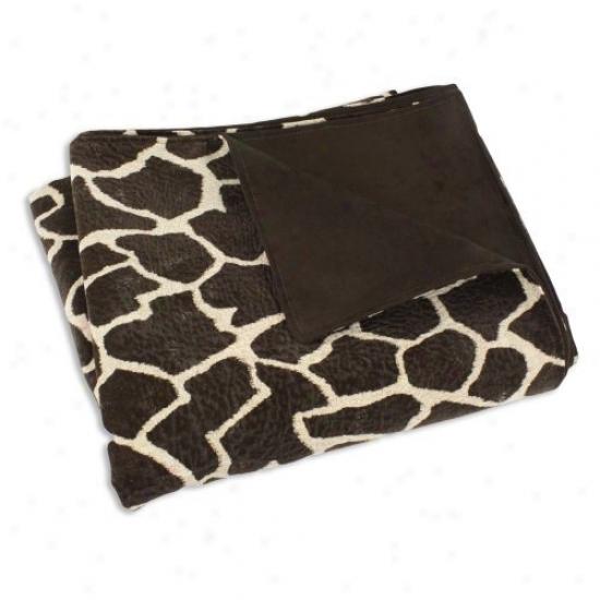 Chooty & Co Giraffe Brown And Tan 26 X 40 In. Super Soft Blanket