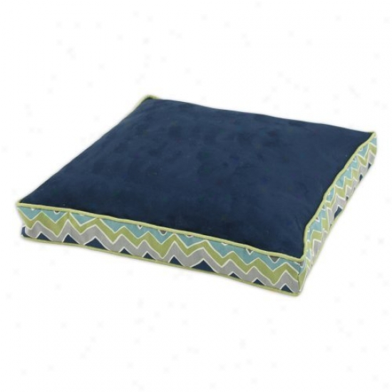 Chooty & Co Ps Navy-see Saw 23 X 23 In. Boxed Pet Bed