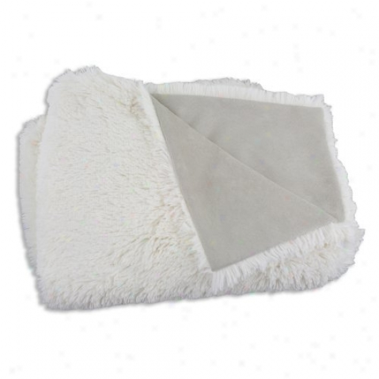 Chooty & Co Shaggy Sand-passion Suede Oyster 26 X 40 In. Blanket