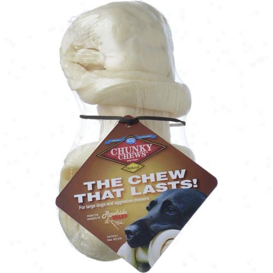 """Chunky Chews 7"""" Rawhide Bone"""