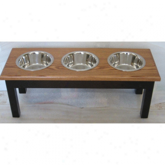 Classic Pet Beds 3 Bowl Traditional Style Pet Diner (1 Quart)