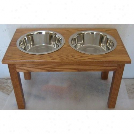 Classic Pet Beds Tsd-l-c Solid Ash Wood Diner Perfect For Large Dogs Stands 12in Tall