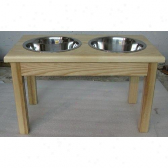 Classic Pet Beds Tsd-l-n Solid Ash Wood Diner Perfect For Medium Dogs Stands 9 1/2in Tall