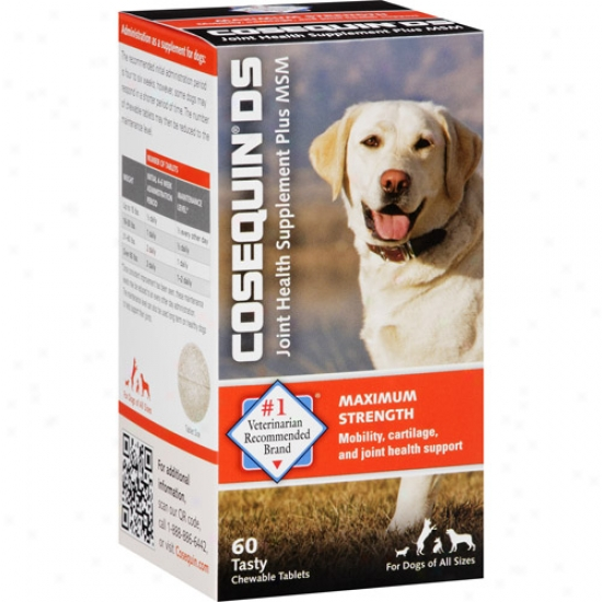 Cosequin Ds Joint Health Supplement Plus Mssm For Dogs Tablets, 60 Count