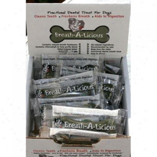 Dancing Paws Breath-a-licious For Means Dogs Case Of 24 1.43 Oz