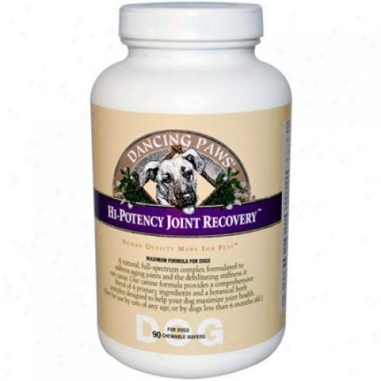 Dancing Paws Hi-potency Joint Regaining For Dogs 90 Chewable Wafers