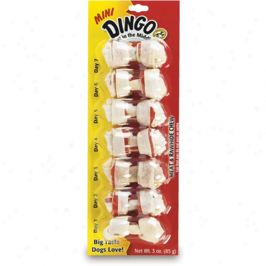Dingo Brand Dingo Dental Mini Bone White X Extra Small - 26003