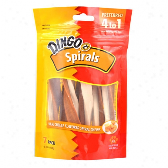 Dingo Cheesy Spirals, 7pk