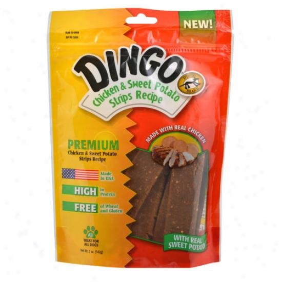 Dingo Chicken And Sweet Potato Strips, 5 Oz
