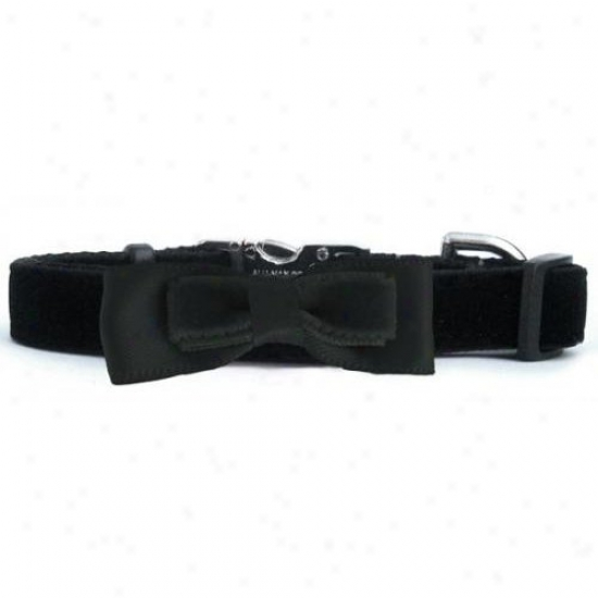 Diva-dog 10023101 Bowtie Black Bow Xs/s Adjustable Leash Extender