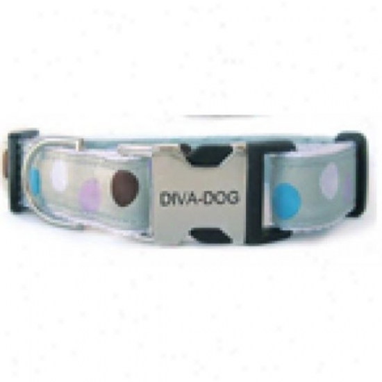 Diva-dog 2569821 Metro Xs/s Adjustable Ring Metal/plastic Buckle