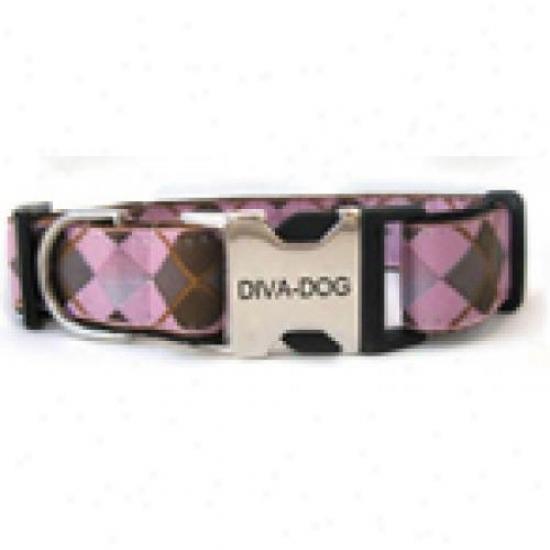 Diva-og 2628582 Argyle Xs/s Adjustable Collar Metal/plastic Buckle