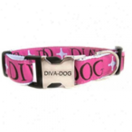 Diva-dog 2864181 Monogram Xs/s Adjustable Collar Metal/plastic Buckle