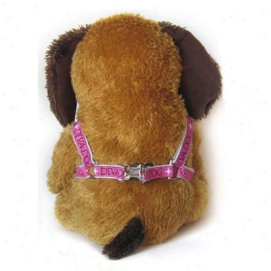 Diva-dog 2864190 Monogram Xs/s Adjustable Step-in Harness