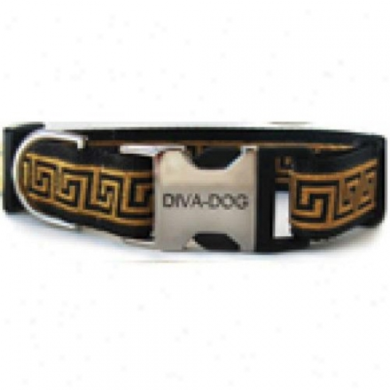 Diva-dog 5055446 Caesar Xs/s Adjustable Collar Metal/plastic Buckle