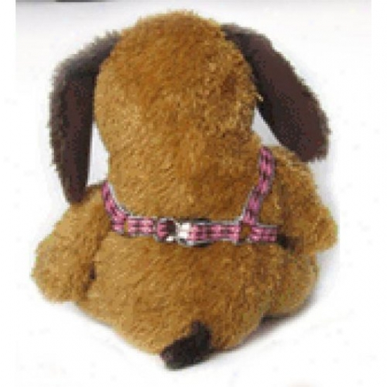 Diva-dog 5055513 Harlequin Choc On Pink Xs/s Adjustable Step-in Harness