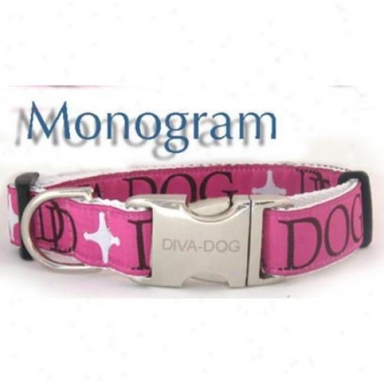 Diva-dog 5563818 Mknogram Teacup Adjustable Collar