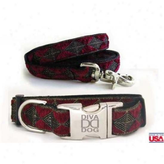 Diva-dog 6265130 Anastasia M/l Collar And Leash