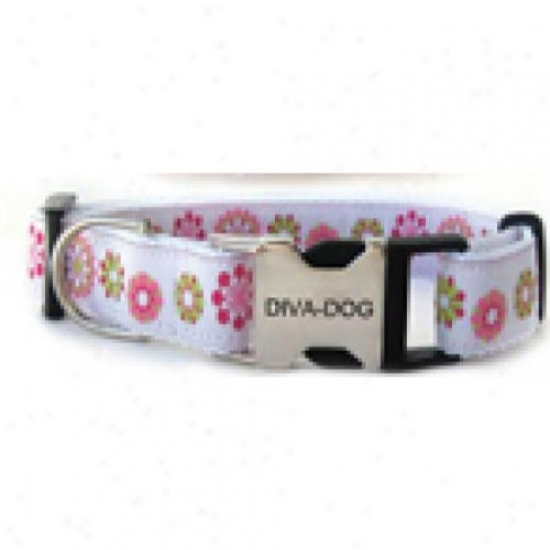 Diva-dog 6266153 Winter Garden M/l Adjustable Collar Metal/plastic Buckle