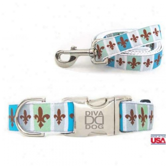 Diva-dog 7080639 French Quarter Xs/s Collar And Leash