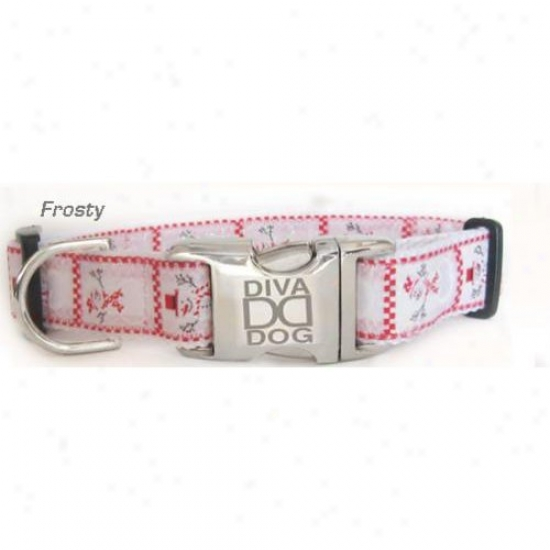 Diva-dog 7174465 Frosty M/l Adjustable Collar