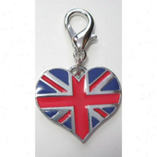 Diva-dog 8886476 Union Jack Collar Charm