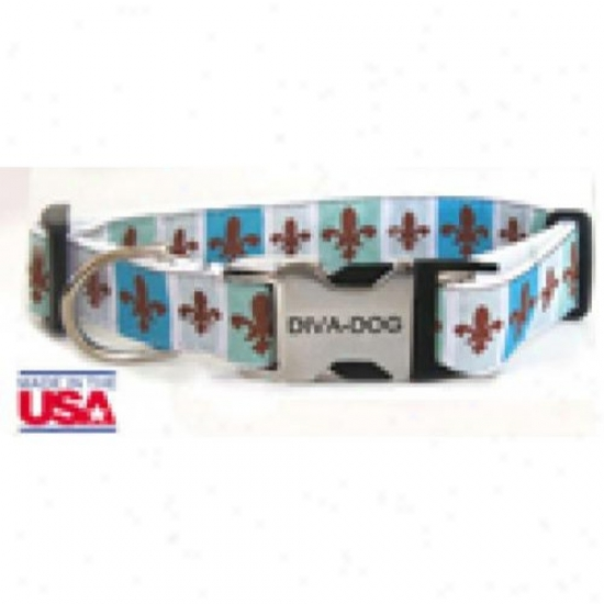Diva-dog 8901706 French Quarter M/l Adjustable Collar Metal/plastic Buckle