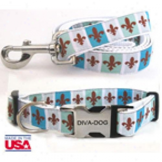 Diva-dog 8903577 French Qjarter Xs/s Co1lar Anr Leash Metal/plastic Buckle