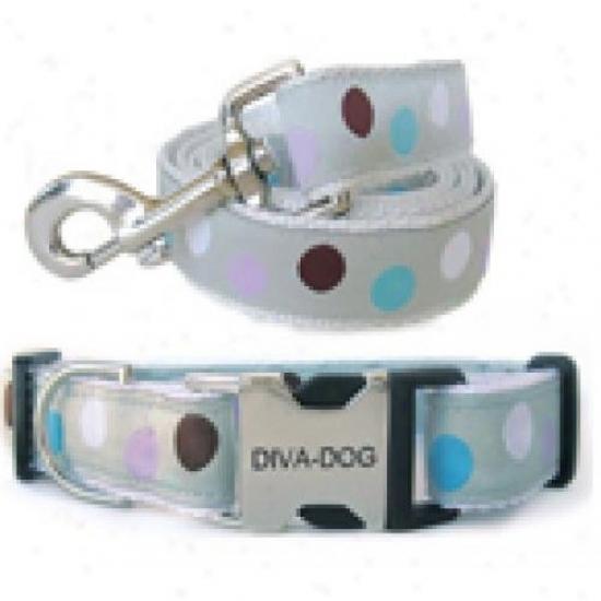Diva-dog 8904101 Metro Xs/s Collar And Tie Metal/plastic Buckle