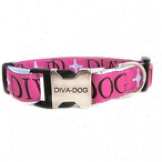 Diva-dog 9015459 Monogram M/l Adjustable Collar Metal/plastic Buckle