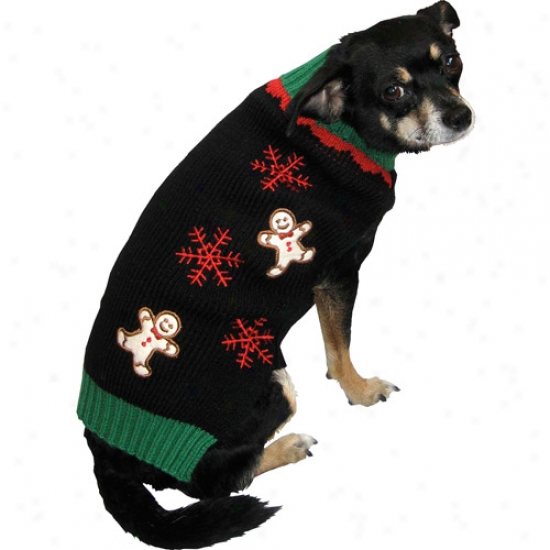 Dog Holiday Unsightly Sweater, Gingerbread Man
