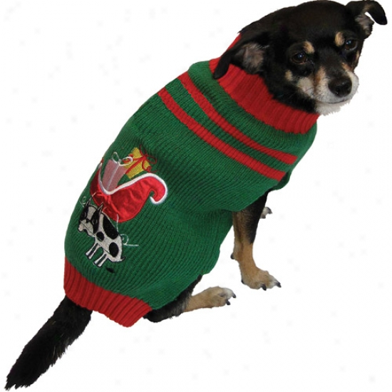 Dog Holiday Ugly Sweater, Sleigh