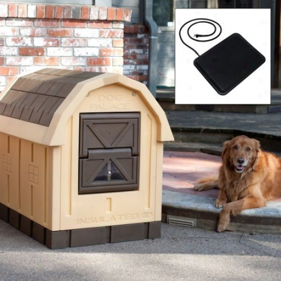 Dog Palace Dog House With Floor Heater