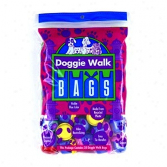 Doggie Walk Bags Baby Powder Dog Classic Waste Bwg In Azure