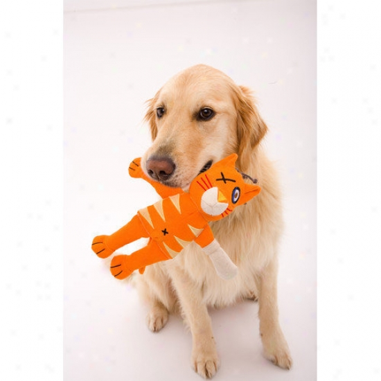 Doggles Cast Of Characters  Cat Dog Toy In Orange