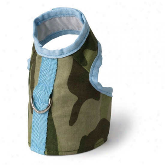 Doggles Dog Boutique Harness In  Green Camo Vest