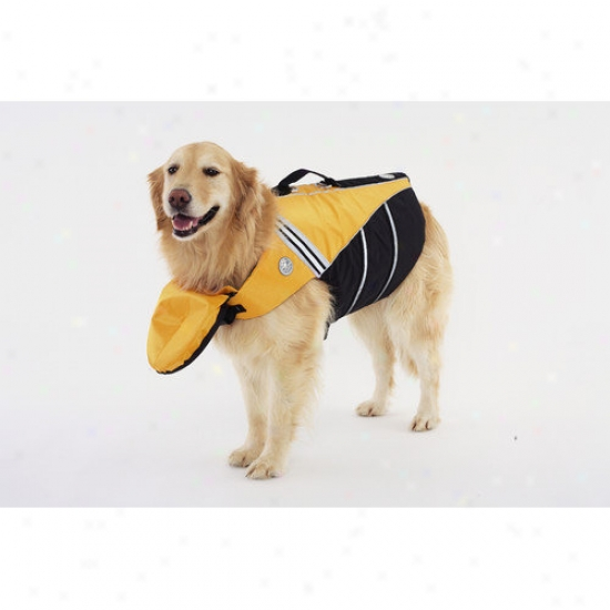 Doggles Dog Flotation Jacket In Yellow