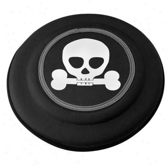 Doggles Flying Discs Dog Toy In Black Skull