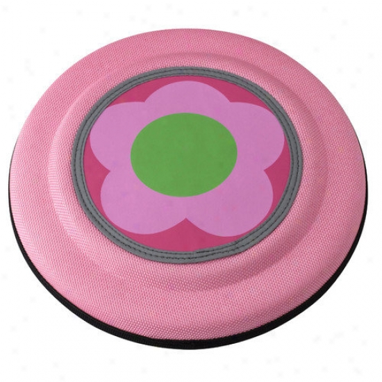 Doggles Fling Discs Dog Toy In Pink Flower