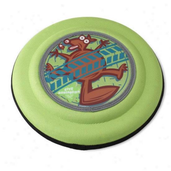 Doggles Flying Discs Sqirrel Dog Toy In Green