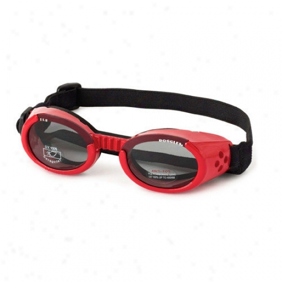 Doggles Ils Lense Dog Goggles In Shiny Red