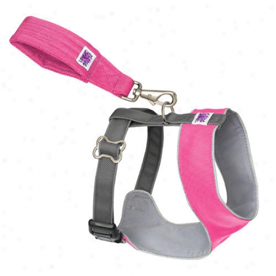 Dogglds Mutt Gear  Dog Comfort Harness In Pink And Gray