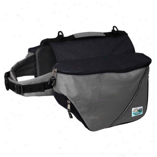 Doggles Standard Dog Backpack In Gray And Dark