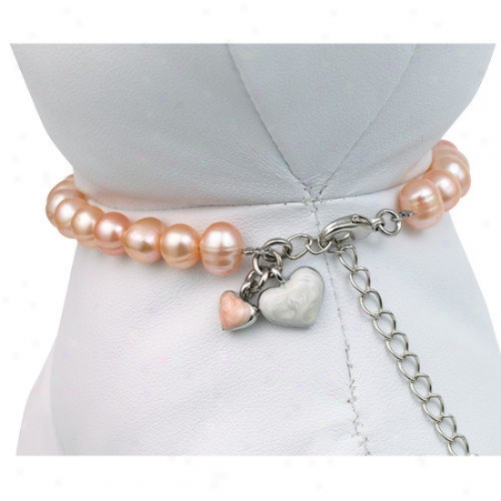Doggles Unity  Pet Necklace In Pink Pearls