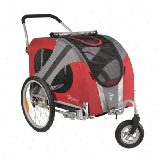 Doggyride Novel Dog Stroller In Urban Red