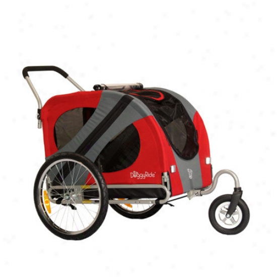 Doggyride Original Dog Stroller In Urba Red