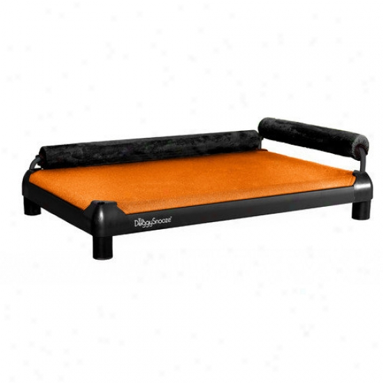 Doggysnooze Snoozelounge Dog Bed With A Black Ahodized Frame