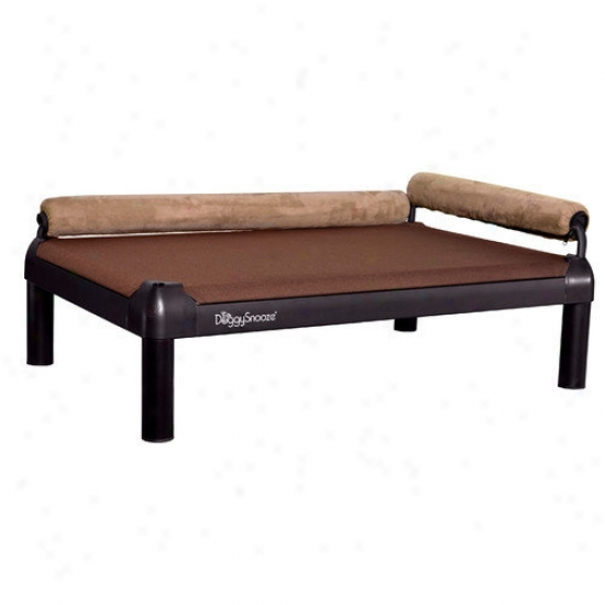 Doggysnooze Snoozelounge Dog Bed With Long Legs And A Black Anodized Frame