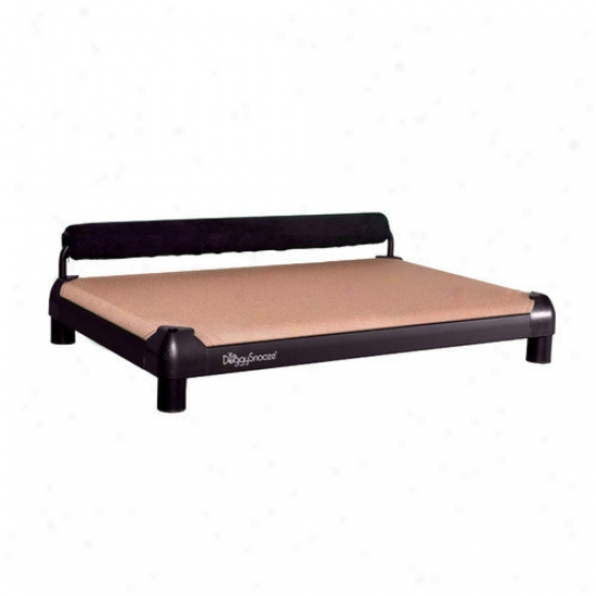Doggysnooze Snoozesldeper Dog Bed With A Black Anodized Frame