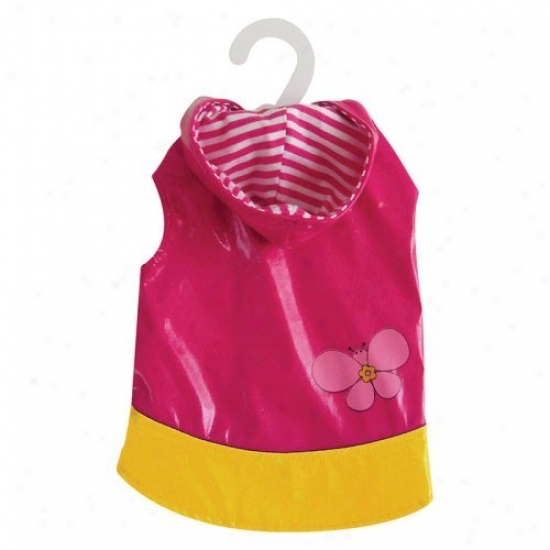 Dogit Diction Raincoat - Pink/butterfly
